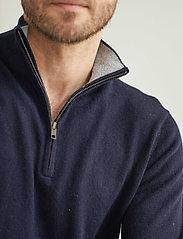Davida Cashmere - Man Half Zip - half zip - navy - 0