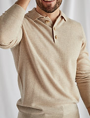 Davida Cashmere - Man Collar - langärmelig - light beige - 0