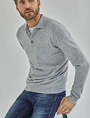 Davida Cashmere - Man Collar - langärmelig - light grey - 0
