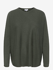 Curved Sweater - ARMY GREEN
