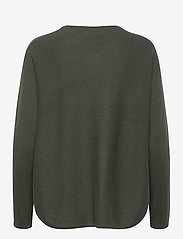Davida Cashmere - Curved sweater - sweaters - army green - 2