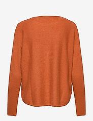 Davida Cashmere - Curved Sweater - sweaters - dark rust - 2