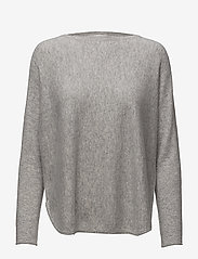 Curved Sweater - LIGHT GREY