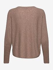 Davida Cashmere - Curved Sweater - sweaters - mink - 2