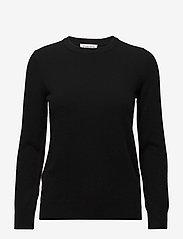 Davida Cashmere - Basic sweater - sweaters - black - 1