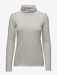 Davida Cashmere - Loose Turtleneck - cashmere - light grey - 0