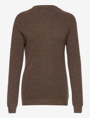 Rib Funnel Neck Sweater - CACAO
