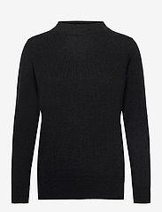 Davida Cashmere - Funnel Neck Sweater - sweaters - black - 0
