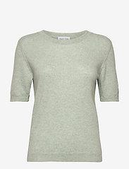 Davida Cashmere - T-shirt Oversized - knitted tops - light green - 0