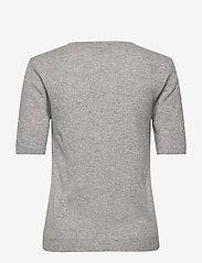 Davida Cashmere - T-shirt Oversized - knitted tops - ligth grey - 1