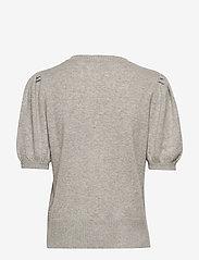 Davida Cashmere - Puff Shoulder Top - knitted tops - light grey - 1