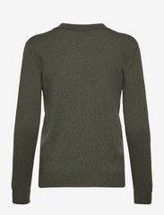 Davida Cashmere - Open Collar Sweater - sweaters - army green - 1