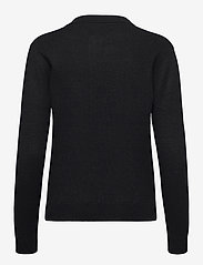 Davida Cashmere - Open Collar Sweater - sweaters - black - 1