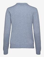 Davida Cashmere - Open Collar Sweater - sweaters - dusty light blue - 1