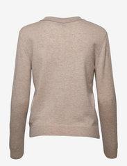 Davida Cashmere - Open Collar Sweater - sweaters - light beige - 1