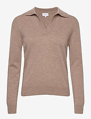 Open Collar Sweater - MINK