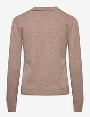 Davida Cashmere - Open Collar Sweater - sweaters - mink - 1