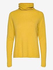Davida Cashmere - Fold Neck Sweater - turtlenecks - yellow - 1