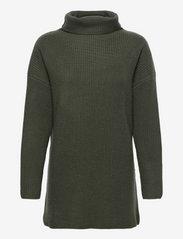 Oversized Rib Sweater - ARMY GREEN