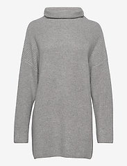 Davida Cashmere - Oversized Rib Sweater - turtlenecks - light grey - 1