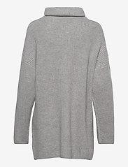 Davida Cashmere - Oversized Rib Sweater - turtlenecks - light grey - 2