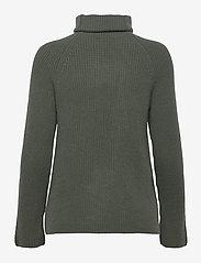 Davida Cashmere - Raglan Rib Loose Fit Sweater - cashmere - army green - 2
