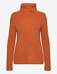 Davida Cashmere - Raglan Rib Loose Fit Sweater - cashmere - dark rust - 0