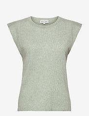Davida Cashmere - Shoulder Detail Tank - knitted vests - light green - 0