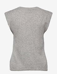 Davida Cashmere - Shoulder Detail Tank - knitted vests - light grey - 2