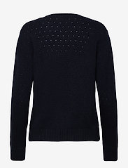 Davida Cashmere - Dotted Sweater - sweaters - navy - 1