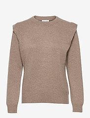 Shoulder Fold Sweater - MINK