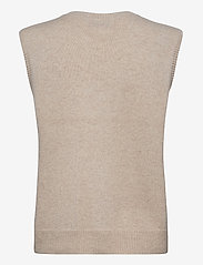 Davida Cashmere - O-neck Vest - knitted vests - light beige - 2