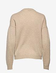 Davida Cashmere - Volume Sleeve Sweater - sweaters - light beige - 2