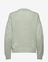 Davida Cashmere - Volume Sleeve Sweater - sweaters - light green - 2