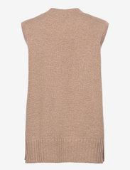 Davida Cashmere - V-neck Vest - knitted vests - mink - 1