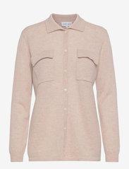Davida Cashmere - Classic Pocket Shirt - denim shirts - light beige - 0