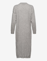 Davida Cashmere - Open Collar Dress - midi dresses - light grey - 1