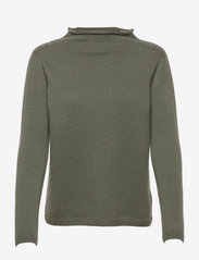 Funnel Roll Neck Sweater - ARMY GREEN