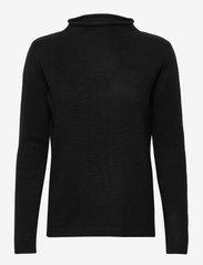 Funnel Roll Neck Sweater - BLACK