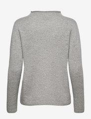 Davida Cashmere - Funnel Roll Neck Sweater - sweaters - light grey - 1