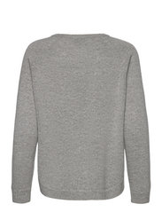 Davida Cashmere - Raglan Curved Sweater - jumpers - light grey - 1