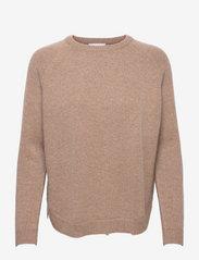 Raglan Curved Sweater - MINK
