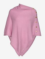 Davida Cashmere - Poncho Gold Buttons - kaszmir - pink - 0