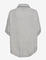 Davida Cashmere - Turtleneck Round Poncho - turtlenecks - light grey - 1