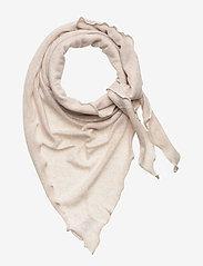 Davida Cashmere - Triangle Scarf - tørklæder - light beige - 0