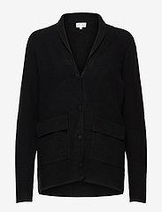 Davida Cashmere - Shawl Collar Jacket - cardigans - black - 0