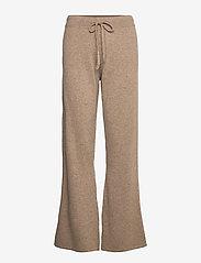 Davida Cashmere - Pants - wide leg trousers - mink - 1