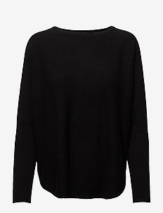 Curved Sweater - jumpers - black