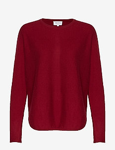 Curved Sweater - BORDEAUX
