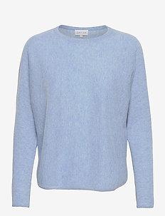 Curved Sweater - tröjor - dusty light blue